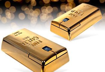 Wireless Gold Bullion Mouse