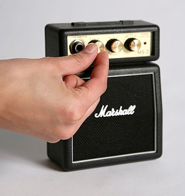 mini marshall amp almost lets you practice music without the noise. Black Bedroom Furniture Sets. Home Design Ideas