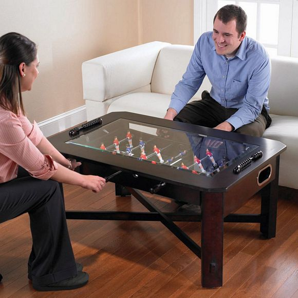 Foosball Coffee Table Set Your Drink Put Your Feet Up Play A Quick Game