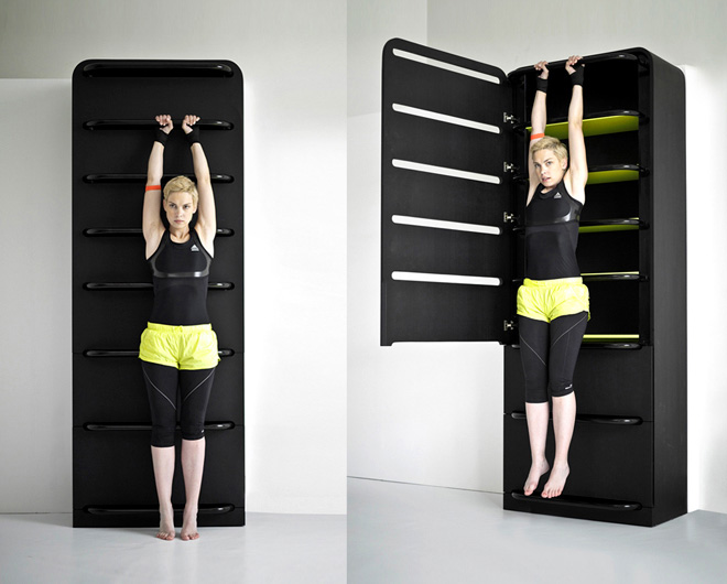Lucie Koldov 225 S Fitness Furniture Turns Closet Table Into