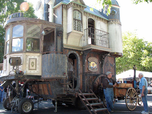 Neverwas Haul A Steampunk Victorian Era House On Wheels