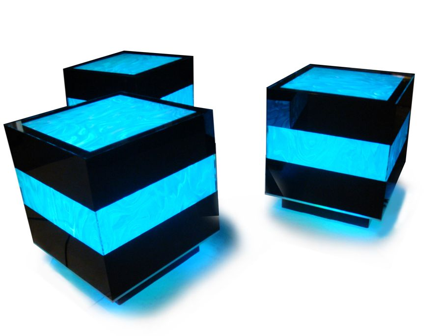 led furniture turns your living room into a club vip section. Black Bedroom Furniture Sets. Home Design Ideas