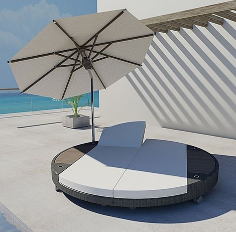 Classy looking freeline sun bed splits in two perfect for love hate couples on vacation - Gartenliege modern ...