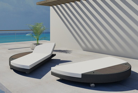 Classy looking freeline sun bed splits in two perfect for - Gartenliege modern ...
