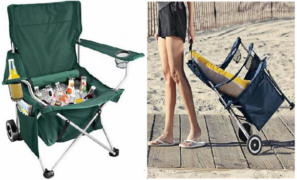 Portable All In One Chair Is A Tote Bag Magazine Pouch