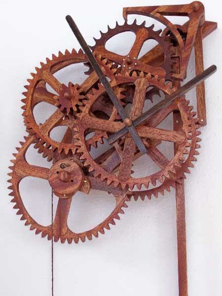 Want To Make Your Own Wicked-Looking Mechanical Wooden Clock?