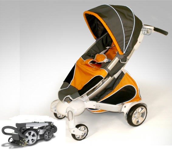 origami stroller makes the baby buggy high tech. Black Bedroom Furniture Sets. Home Design Ideas