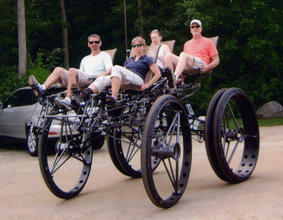 Big Dog Is A Giant Quadracycle For Four People