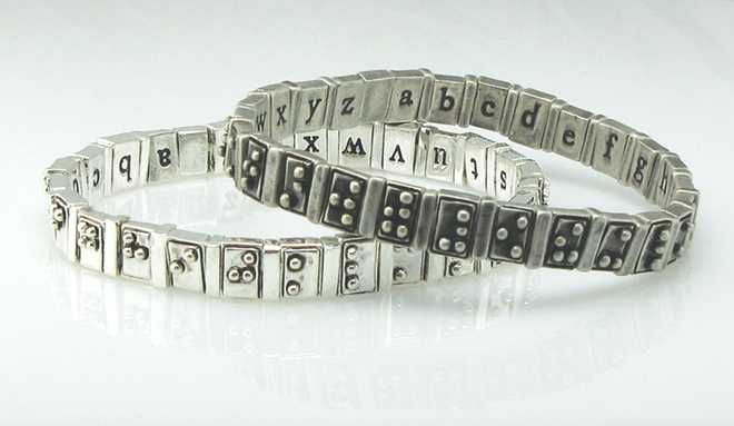 Braille Alphabet Bracelet Is A Stylish Learning Tool For