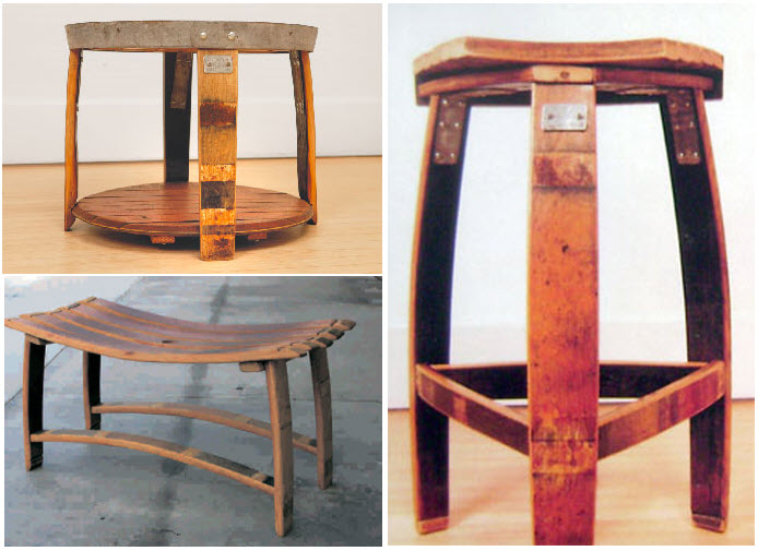 Barrelly Made It Makes Furniture Out Of Oak Wine Barrels