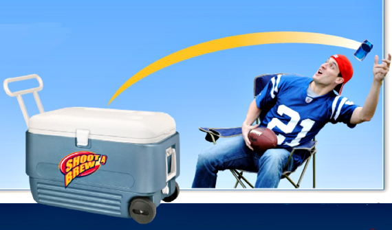 Kool A Brew Can Coolers ~ Shoot a brew cooler hurls beer cans up to eight feet away