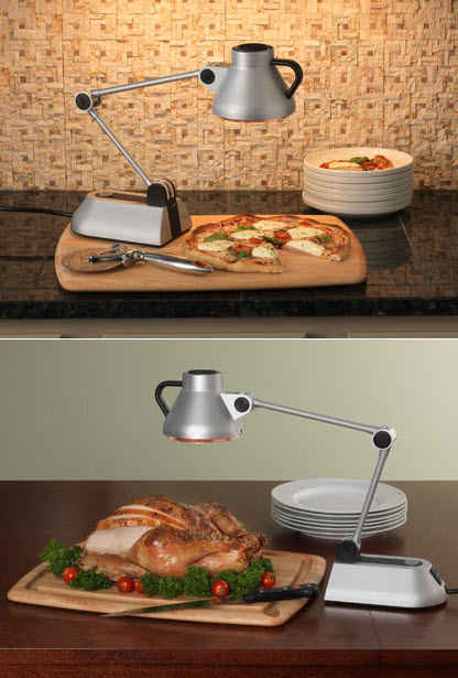 bon home culinary heat lamp keeps food warm without ruining it. Black Bedroom Furniture Sets. Home Design Ideas