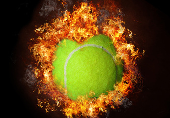 Tennis Ball in Flames