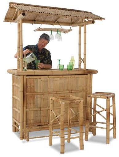 Bamboo Tiki Bar Turns Your Backyard Into A Beachfront Paradise