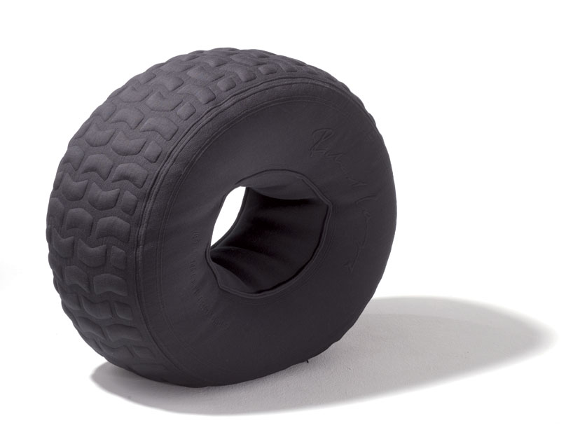 Pit stop is a tire shaped beanbag chair