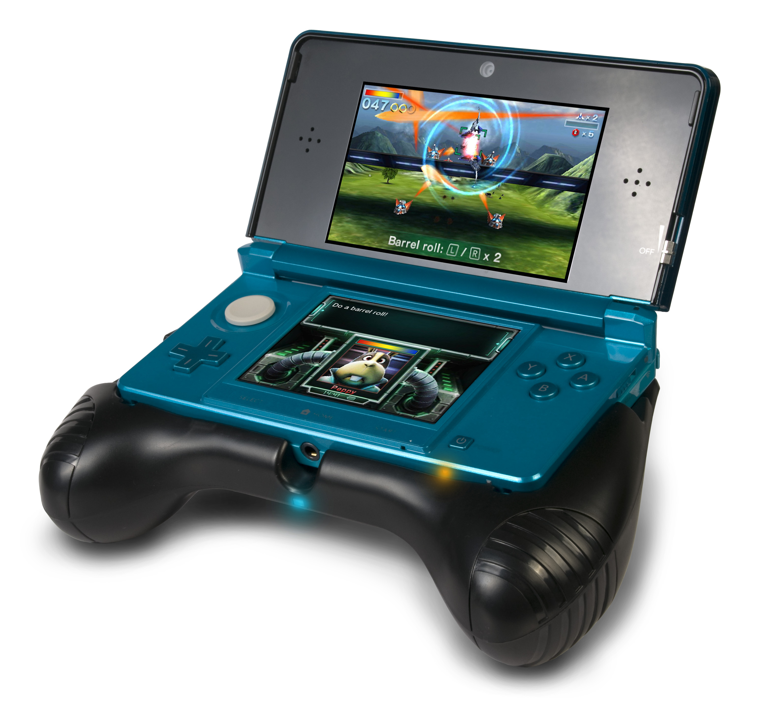 3ds deluxe power grip adds console handles extra battery to your handheld. Black Bedroom Furniture Sets. Home Design Ideas