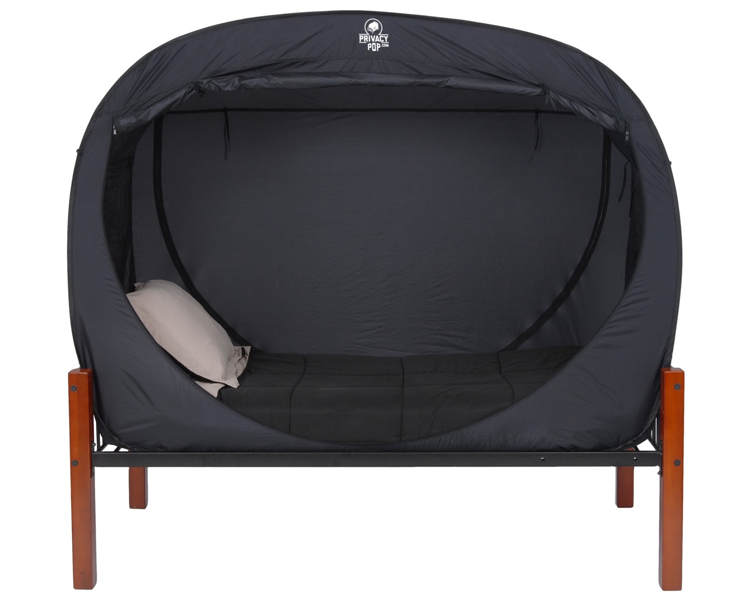 privacy pop is a tent for your bed. Black Bedroom Furniture Sets. Home Design Ideas