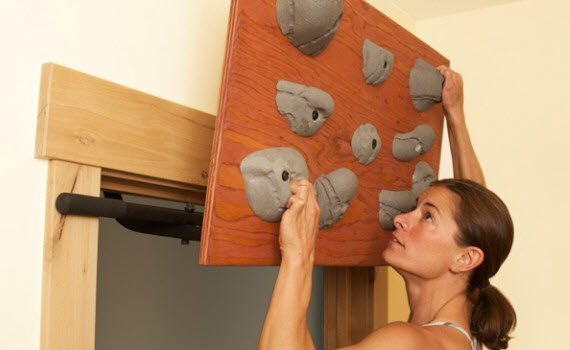 Blank Slate Hanging Board Adds Rock Climbing To Your Workout