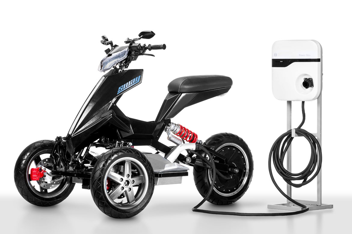 sway is an all electric tilting trike scooter. Black Bedroom Furniture Sets. Home Design Ideas