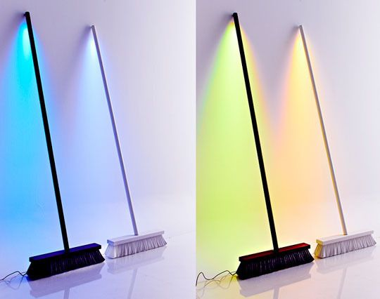 Led Broom Lamp Makes For Unlikely Accent Lighting