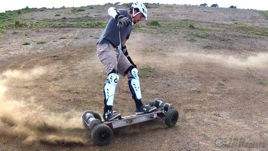 gnarboards trail rider 4 wheel drive electric skateboard. Black Bedroom Furniture Sets. Home Design Ideas