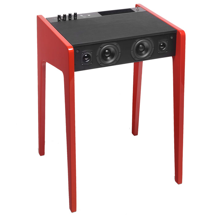 this laptop desk features a built in sound system. Black Bedroom Furniture Sets. Home Design Ideas