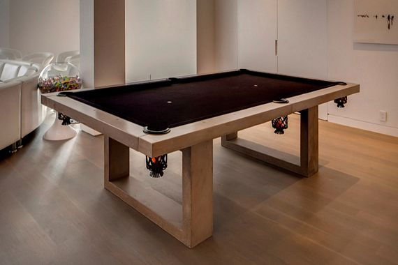 James De Wulf Concrete Pool Table For The Outdoors