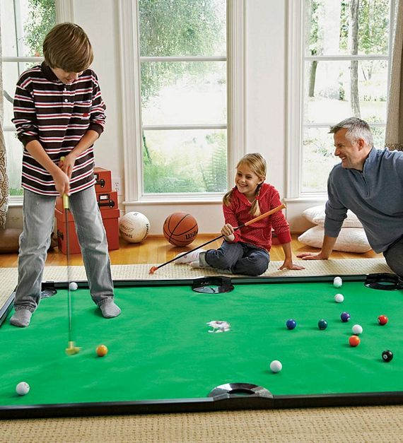 Putter pool looks ridiculously fun for Kitchen set for 9 year old