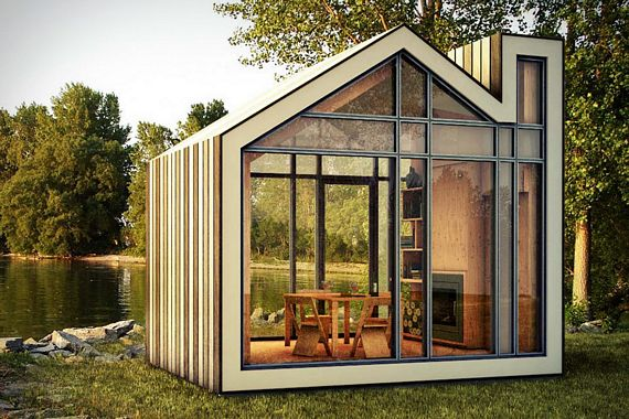 Bunkie is a space efficient pre fab cabin for Pre engineered houses