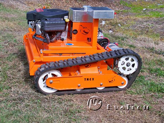 Garden Tractor Track Drive Kit : Trex rc robot lawn mower is built like a tank