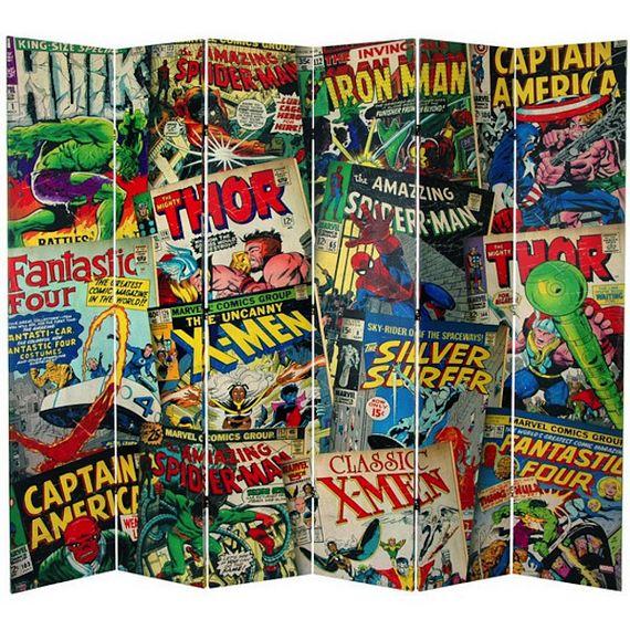 Fanboy Furniture Marvel Comic Book Covers Room Divider