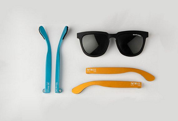Glasses Frames With Interchangeable Arms : Monte Cool Sunglasses Come With Colorful, Interchangeable ...