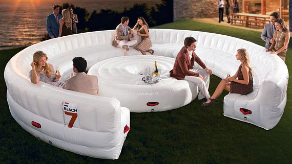 Coffee Table Sets Walmart Beach7 AirLounge XL Is A Party-Sized Inflatable Couch