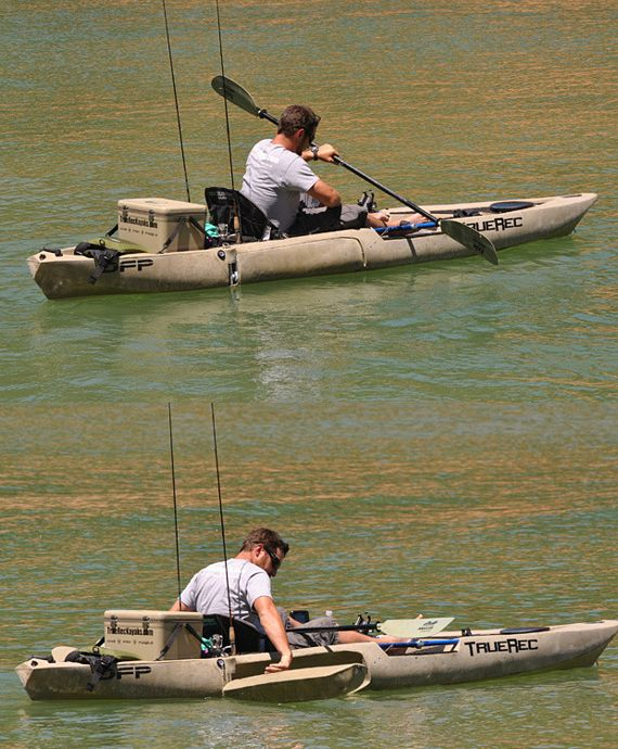 Dfp kayak lets you stand and fish without capsizing for Best stand up fishing kayak