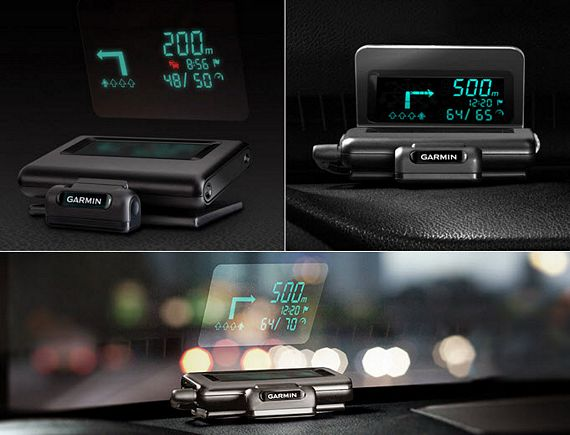 garmin puts a hud on your windshield using your phone s. Black Bedroom Furniture Sets. Home Design Ideas