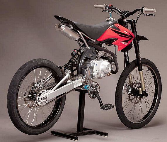 Motoped kit helps you build a motorized mountain bike for Custom motorized bicycles parts