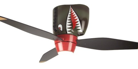 Tiger Shark Warplane Ceiling Fan