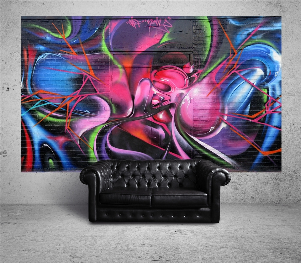 Suumo brings authentic street art into your home for Cool wall mural