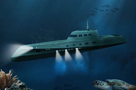 Lovers Deep Submarine Hotelon Club Car Carry All Engine