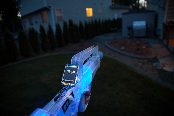 Skirmos is a programmable open source laser tag system