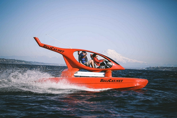 Helicat Catamaran Can Fly Through Rough Seas At 45 Mph