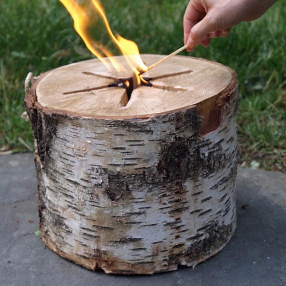 Light n go bonfire log for What to do with tree logs