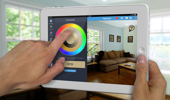 Tappainter lets you virtually paint your home in any color for App for painting walls