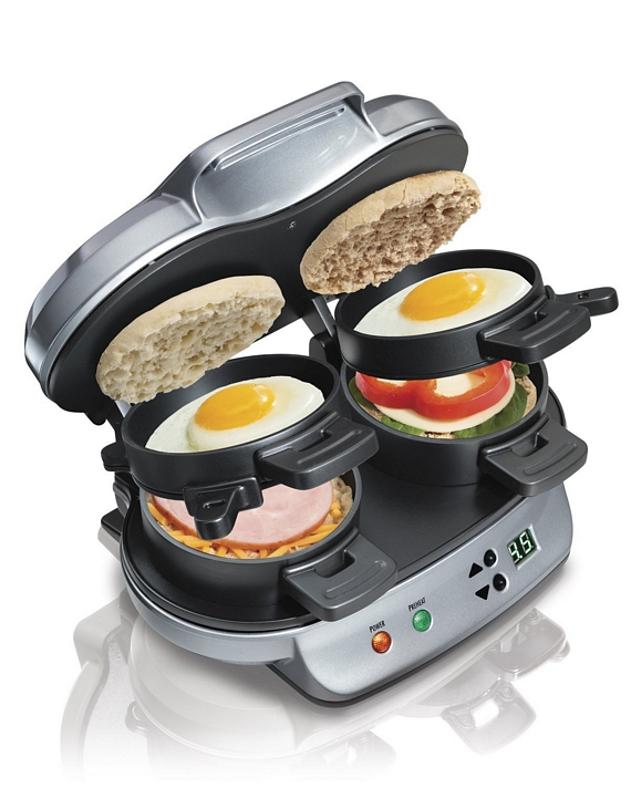 hamilton beach is making a dual breakfast sandwich maker