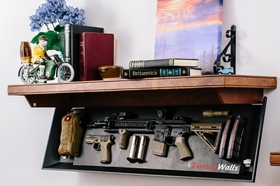 These Tactical Wall Shelves Hide Your Guns In Plain Sight - Hunting And ShootingHunting And Shooting