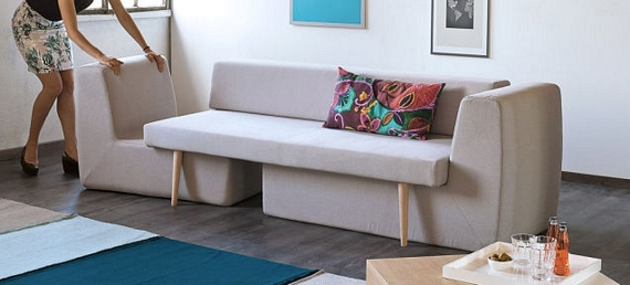 The Sofista Couch Can Transform Into A Three Piece Living