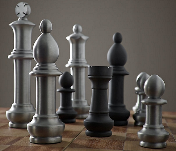Supersize your game with this giant vintage chess set - Inexpensive chess sets ...