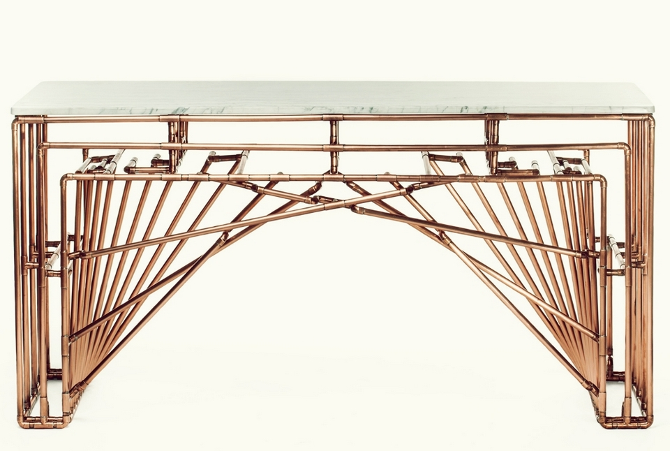 Beautiful and functional copper tubing furniture