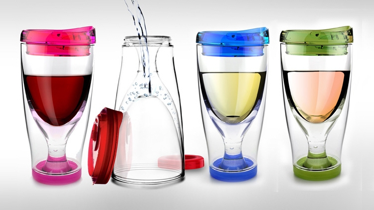 Asubo Chill Vino 2 Go: wine glasses to go
