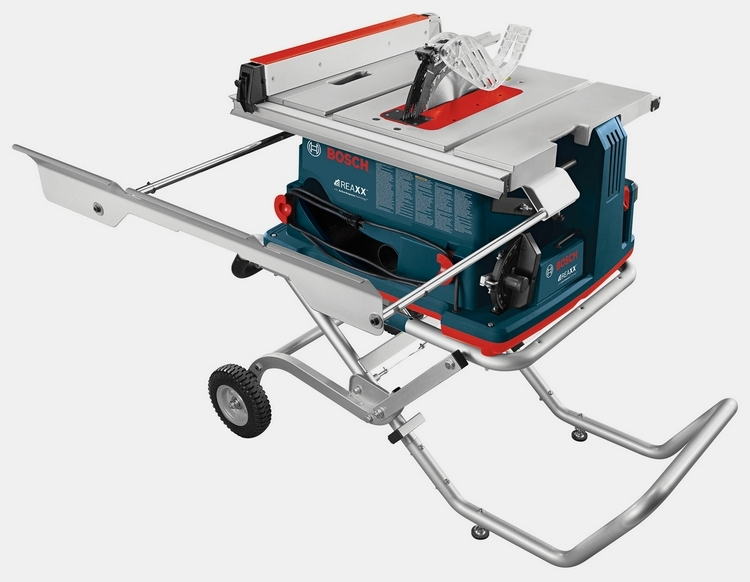 Bosch reaxx portable job site table saw Bosch portable table saw